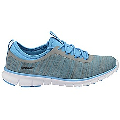 Gola - Grey/blue 'Lovana' ladies lace up sports trainers