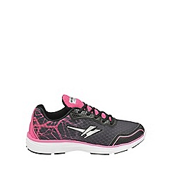 Gola - Black/pink 'Vallis' ladies lace up trainers