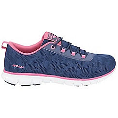 Gola - Navy/pink 'Bela' trainers