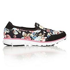 Gola - Mystic 2 black/pink floral textile trainers