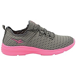 Gola - Grey/Pink 'Sondrio' ladies lace up sports trainers