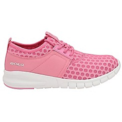 Gola - Pink/white 'Salinas' ladies lace up trainers