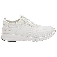Gola - White 'Salinas' ladies lace up trainers