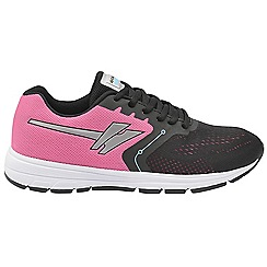 Gola - Black/Pink 'Ursa' ladies lace up sports trainers