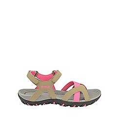 Gola - Taupe/pink 'Cedar' ladies slip on sandals