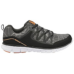 Gola - Black/Orange 'Luna' men's lace up sports trainers