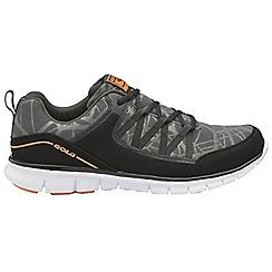 Gola - Black/Orange 'Luna' men's lace up sports trainers