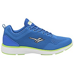 Gola - Blue/Lime 'Malim' mens lace up trainers