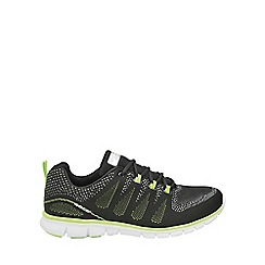 Gola - Black/lime 'Tempe' mens lace up trainers