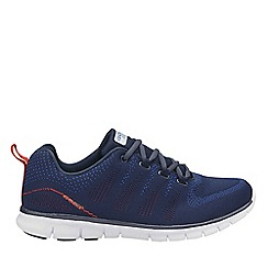 Gola - Navy and red 'Tempe' mens lace up sports trainers