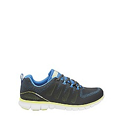 Gola - Charcoal/blue/yellow 'Tempe' mens trainers