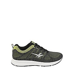 Gola - Black/volt 'Zenith' mens lace up trainers