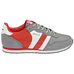 Gola - Grey/deep red 'Melrose' trainers