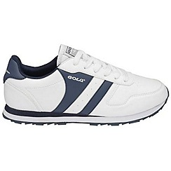 Gola - White/navy 'Newport' trainers