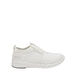 Gola - White 'Salinas' mens lace up trainers