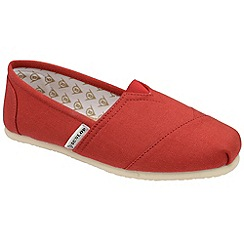 Dunlop - Red leather insock plimsolls