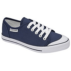 Dunlop - Navy canvas 5 eyelet laced plimsolls
