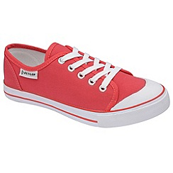 Dunlop - Raspberry canvas 5 eyelet laced plimsolls