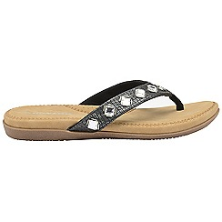 Dunlop - Black 'Dunlop' ladies toe post sandals