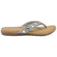 Dunlop - Silver 'Dunlop' ladies toe post sandals