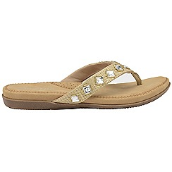 Dunlop - Gold 'Dunlop' ladies toe post sandals