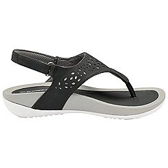 Dunlop - Black 'Dunlop' ladies toe post comfort sandals