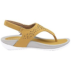 Dunlop - Camel 'Dunlop' ladies toe post comfort sandals