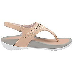 Dunlop - Pink 'Dunlop' ladies toe post comfort sandals