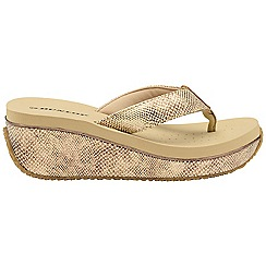 Dunlop - Beige 'Dunlop' ladies toe post sandals