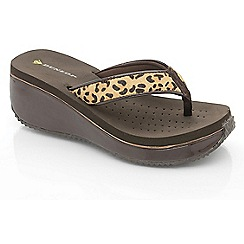 Dunlop - Leopard pony hair wedge sandals