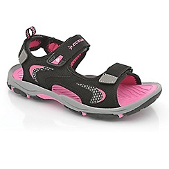 Dunlop - Black/fuchsia rip-tape fastening raft sandals