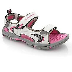 Dunlop - White/fuchsia rip-tape fastening raft sandals