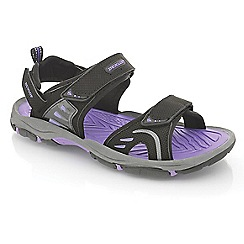 Dunlop - Black/purple rip-tape fastening raft sandals