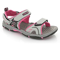 Dunlop - Light Grey/fuchsia rip-tape fastening raft sandals