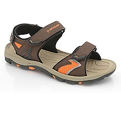 Dunlop - Dark brown mens raft sandals