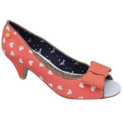 Babycham Coral ´Uma´ peep-toe bow low court shoes - . -
