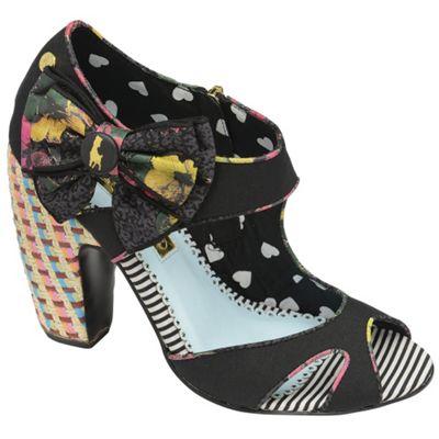 Babycham Black ´Gemini´ tropical heel zip shoes - . -