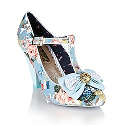 Babycham - Vintage blue 'Kimberly Floral' mary-jayne shoes