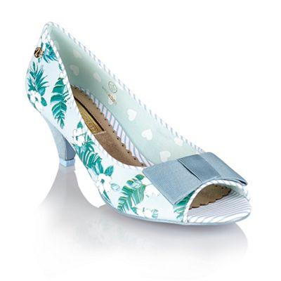 Babycham Light blue ´Uma Hawaiian´ peep-toe court shoes - . -
