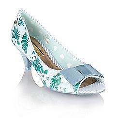 Babycham - Light blue 'Uma Hawaiian' peep-toe court shoes
