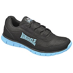 Lonsdale - Black/blue 'southwick' trainers