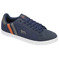 Lonsdale - Navy/grey/orange 'coburn' trainers