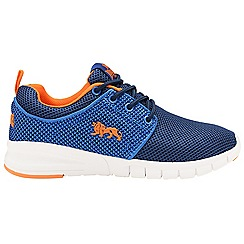 Lonsdale - Boys' blue/orange 'Sivas' lace up trainers