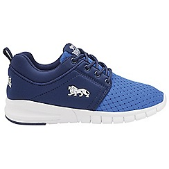 Lonsdale - Blue/White 'Sivas' lace up boys trainers