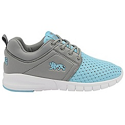 Lonsdale - Light Blue/Grey 'Sivas' lace up girls trainers