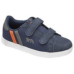 Lonsdale - Navy/grey/orange'coburn twin strap' trainers