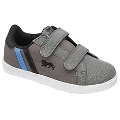 Lonsdale - Grey/black/blue 'coburn twin strap' trainers