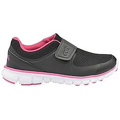 Lonsdale - Black/Pink 'Lima' girls sports trainers