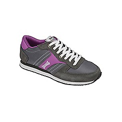 Lonsdale - Charcoal/ purple 'Coniston' trainers