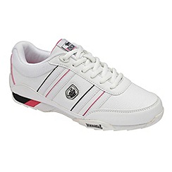 Lonsdale - White/Black/Fuchsia 'Bekker' trainers